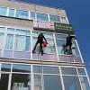 """Мойка окон торгового центра """"Металлург"""""""