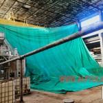 """установка защитного тента для ремонта потолка в работающем цеху на ООО """"Алексинская БКФ"""""""