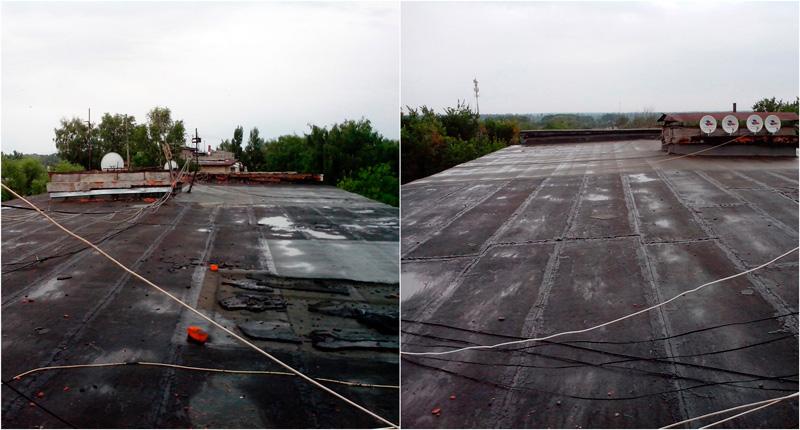 Так крыши выглядели до ремонта
