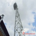 Монтаж рекламы на стадионе Арсенал (2)